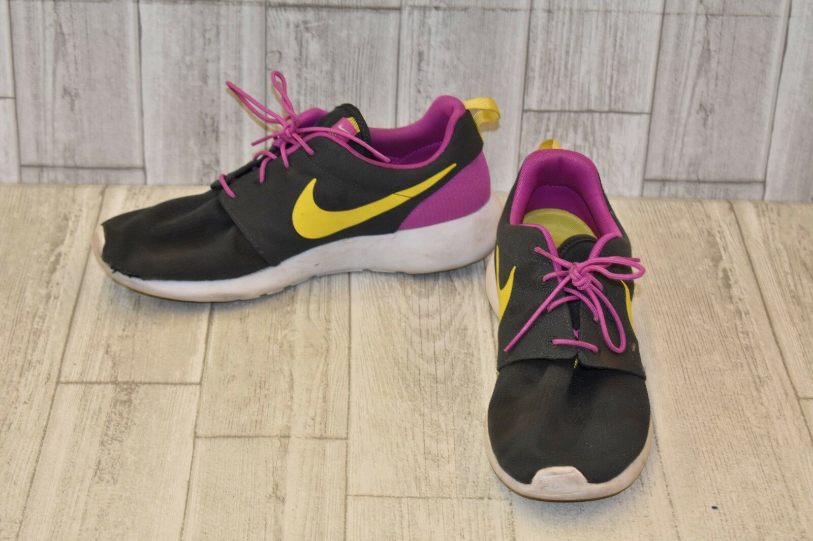 015f4691a66   Nike Roshe One Running Shoe - Men s Men s Men s Size 12.5 - Gray Purple  Yellow DAMAGED 2e0cc0