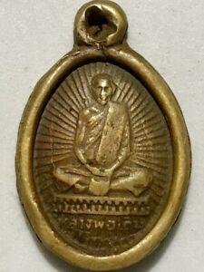 PHRA LP DERM RARE OLD THAI BUDDHA AMULET PENDANT MAGIC ANCIENT IDOL#16