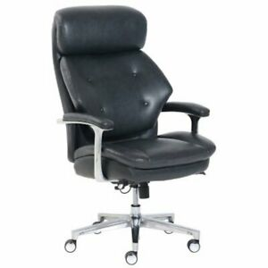 La-Z-Boy-50641EC-B-Luxury-Big-amp-Tall-Executive-Chair-Magic-Lumbar-Dark-Grey