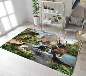 Jurassic Dinosaur Era Living Room Floor Mat Yoga Carpet Home Decor
