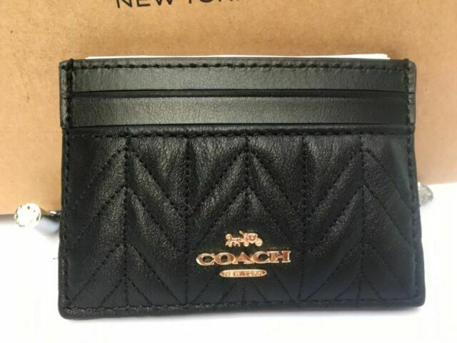 NWT Coach F73000 Card Case with Quilting