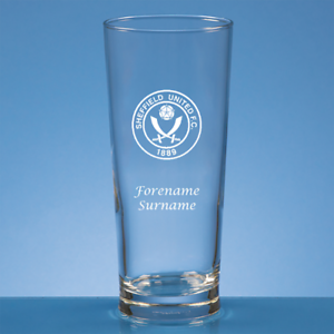 Capable Sheffield United F.c - Personalised Straight Sided Beer Glass (crest) Dans La Douleur
