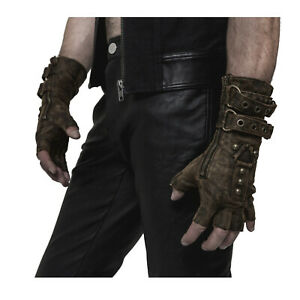 Adult-Men-039-s-Steampunk-Mad-Max-Apocalypse-Halloween-Costume-Fingerless-Gloves