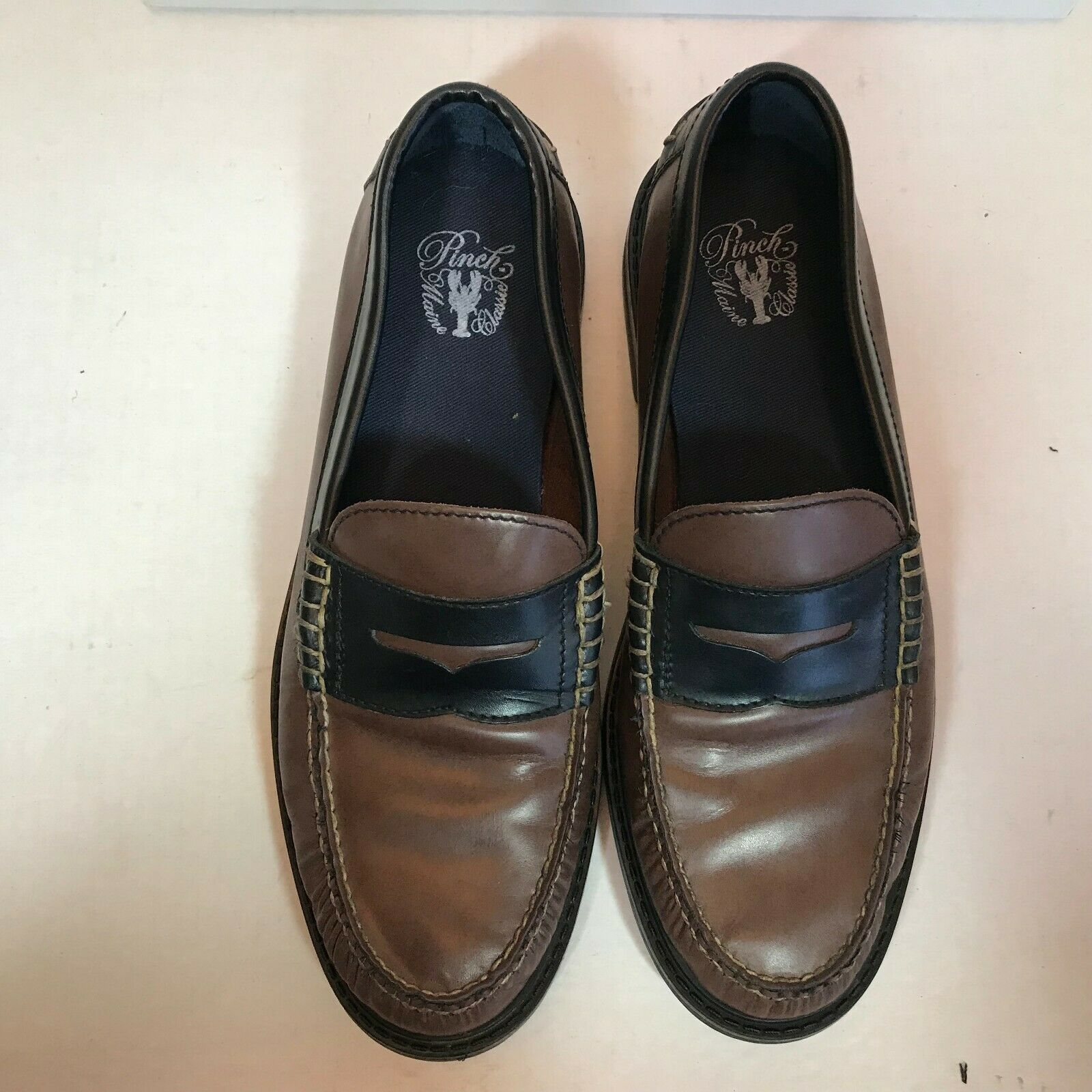 Cole Haan Marronee Leather Leather Leather Pinch Maine Classic Penny Loafers Uomo 9 M Penny loafer d3f238