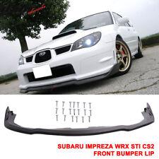 Fits 06-07 Subaru Impreza WRX Sti CS2 Front Bumper Lip Splitter - PP