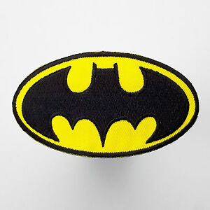 BATMAN-Classic-034-BAT-034-Logo-Embroidered-Iron-On-Patches-NEW-WHOLESALE-DEALS