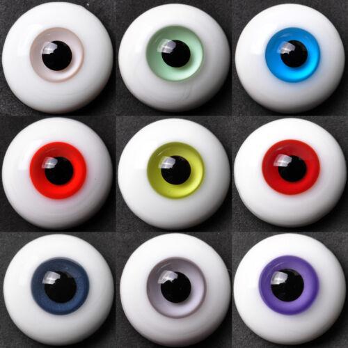 Große Auswahl an neuen Realistisch Glas 22mm Augen aus für Reborn und BJD Puppen