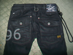 G-STAR-96-COATED-5620-HERITAGE-TAPERED-JEANS-SIZE-24
