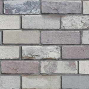 3d Effect Grey Brick Wallpaper Industrial Style Bricks By Arthouse