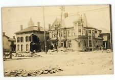 RPPC Mansion after Flood of 1913 HAMILTON OH Vintage Ohio Real Photo Postcard