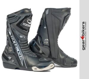 Richa-Blade-WP-Motorcycle-Boot-Sport-Sports-Race-Style-Motorbike-Boots-Black