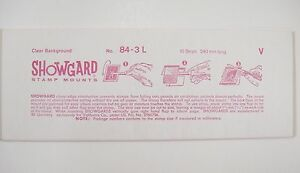 Showgard-Clear-Stamp-Mounts-240-84-10-Strips-Back-Opening-NOS-m102