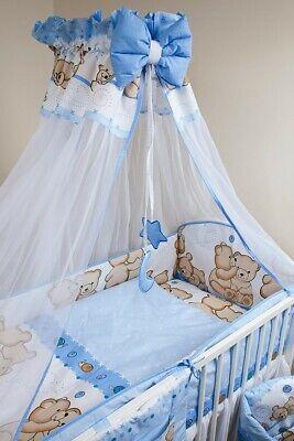 Bettset Baby 8-9 Tlg Bettwäsche Nestchen Himmelstange 120x60 Freunde Eine VollstäNdige Palette Von Spezifikationen
