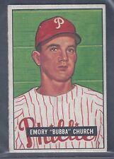 1951 Bowman #149 Emory Church Pitcher Philadelphia Phillies EX-MT to EX-MT Plus