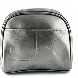 Jemma-Kidd-Silver-Make-up-Bag-Cosmetic-with-Pink-Pocket