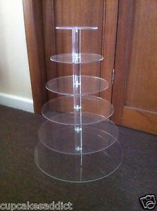 6-TIER-CLEAR-ACRYLIC-ROUND-MAYPOLE-CUPCAKE-CUP-CAKES-STAND-WEDDING-PARTY-DISPLAY