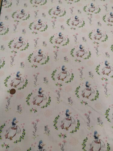 Beatrix potter jermima puddle duck digital print 100/% cotton quilting fabric