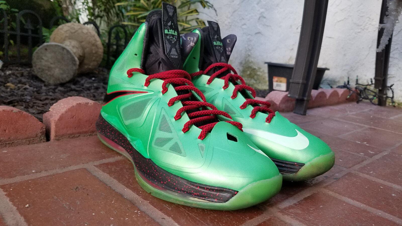 Mens Nike Lebron X 10 Cutting jade shoe OG PE rare 541100 303 green red black