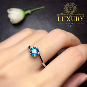 Natural-Blue-Topaz-Gemstone-Oval-Cut-Solid-925-Sterling-Silver-Engagement-Rings