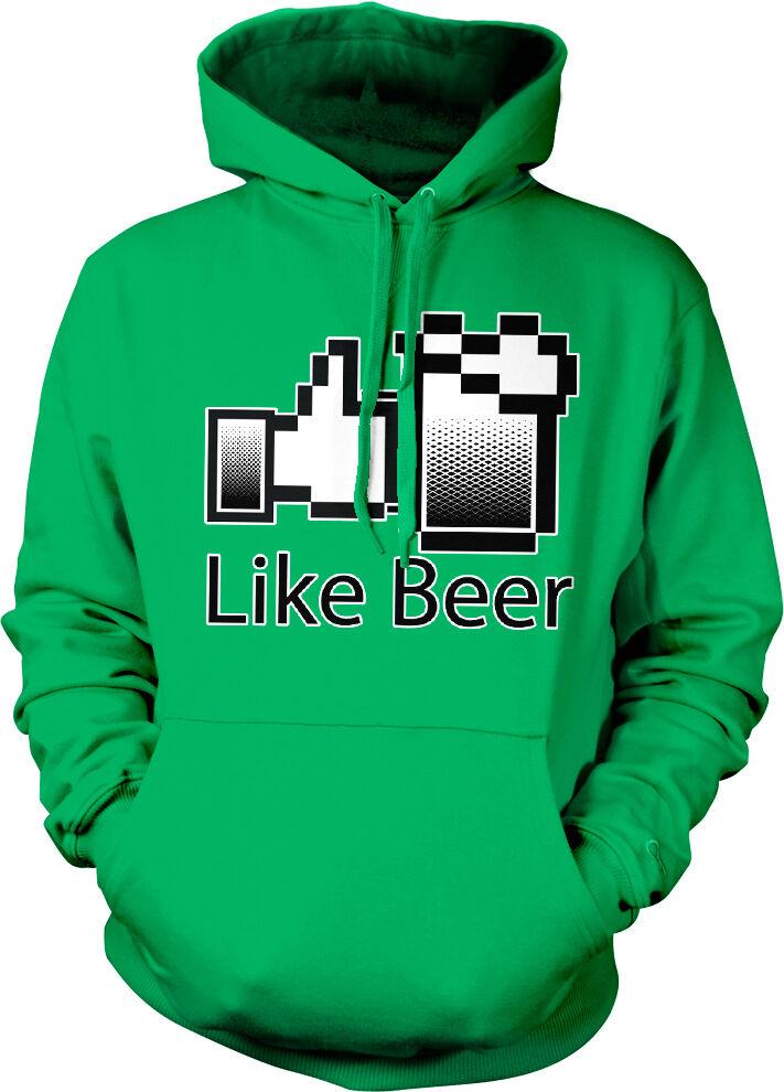 Like Beer Thumbs Up Web Icon Mug Internet Drunk Party College Hoodie Sweatshirt