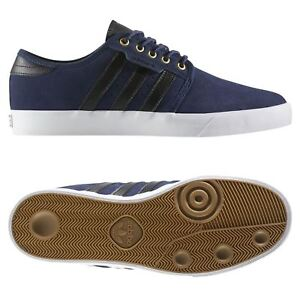 sale retailer 77533 f459c Caricamento dell immagine in corso Adidas-Originali-UOMO-Seeley-Scarpe -Stile-Skater-Blu-