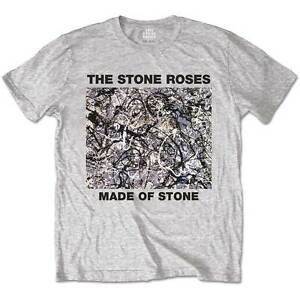 The-Stone-Roses-T-Shirt-Made-Of-Stone-Officially-Licensed-Mens-Grey-Tee-NEW