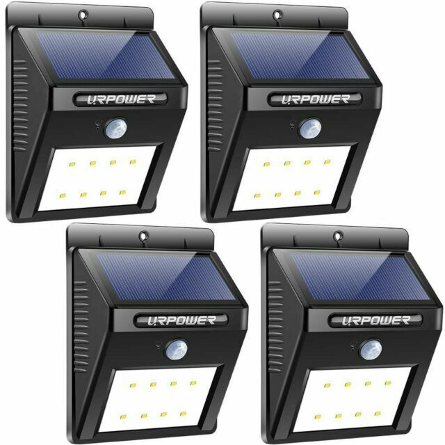 Led Wireless Motion Sensor Solar Lights, Wireless Outdoor Lights With Sensors