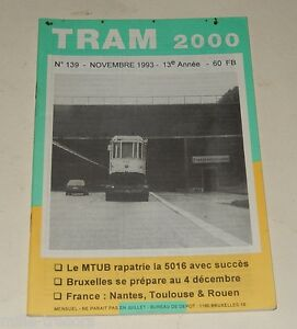 TRAM-2000-N-139-Novembre-1993-TRAMWAY-AUTOBUS-METRO-ANVERS-GAND-ROUEN