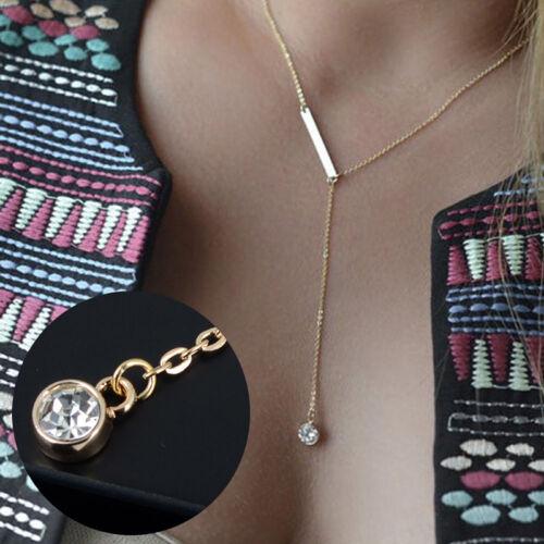 Choker Chunky Bib Déclaration Collier long femme Fashion Chaîne et pendentif