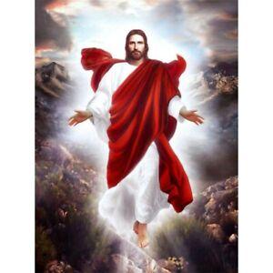 5D-Full-Drill-Diamond-Painting-Art-Craft-Red-Jesus-Cross-Stitch-Decor-Gifts