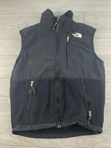 The-North-Face-Black-Fleece-Vest-Full-Zip-Jacket-Denali-Womens-Sz-Small-S-P