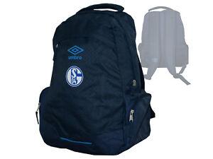 Umbro-FC-Schalke-04-Rucksack-blau-Fanartikel-Tasche-S04-Fussball-Daybag-Backpack