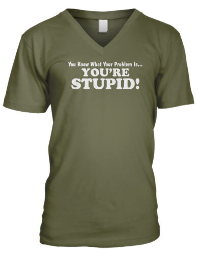 You Know What You/'re Problem Is… You/'re Stupid Sayings Mens V-neck T-shirt
