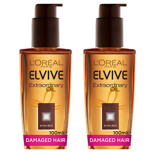 NEW L'Oreal Paris Elvive Extraordinary Hair Oil Treatment Extra Rich 100ml x 2