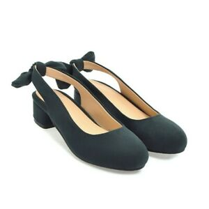 Vogue-Mary-Janes-Womens-Block-Heel-Suede-Shoes-Pumps-2019-New-Round-Toe-Bowknot