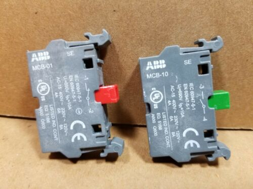 ABB MODULAR SELECTOR SWITCH ASSEMBLY COMPLETE WITH ALL COMPONENTS 2 POS