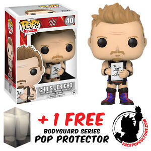 FUNKO POP WWE CHRIS JERICHO #40 EXCLUSIVE VINYL FIGURE + FREE POP PROTECTOR