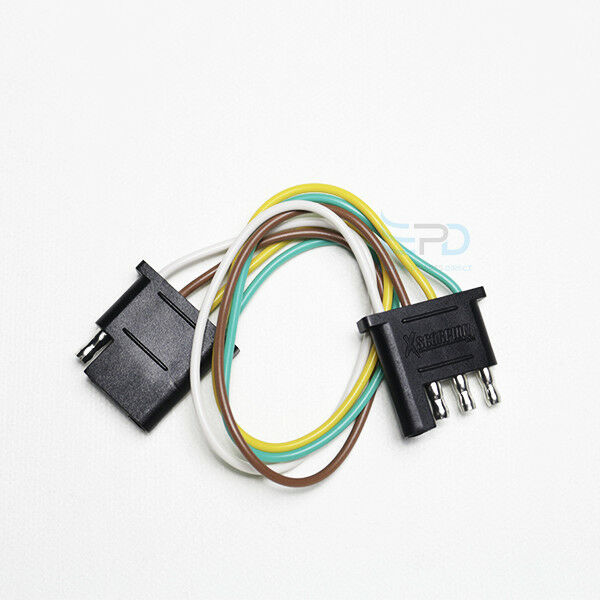trailer light wiring harness extension 4 pin plug 18 awg flat wire amp bypass harness trailer light wiring harness extension 4 pin plug 18 awg flat wire connector ebay
