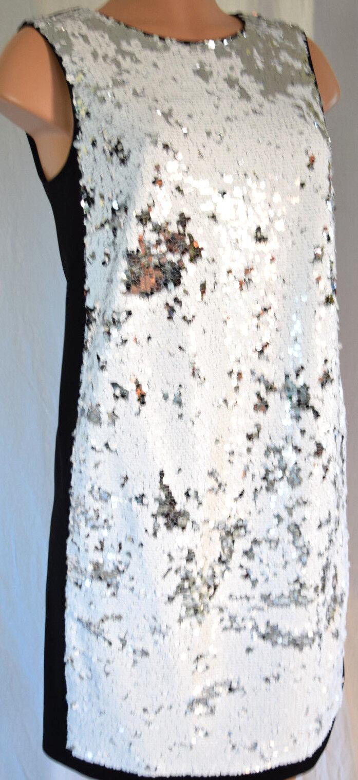 Paule Ka Lentejuelas Color bloque vestido sin mangas talla 42   salida