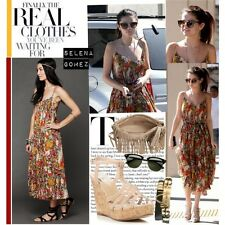 Free People ASO Selena Gomez Floral Criss Cross Rayon Boho Maxi Dress XS