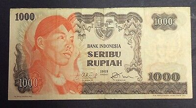 Paper Money: World Asia 1968 1000 Rupiah Rdg30691 Circulated Condition To Enjoy High Reputation At Home And Abroad