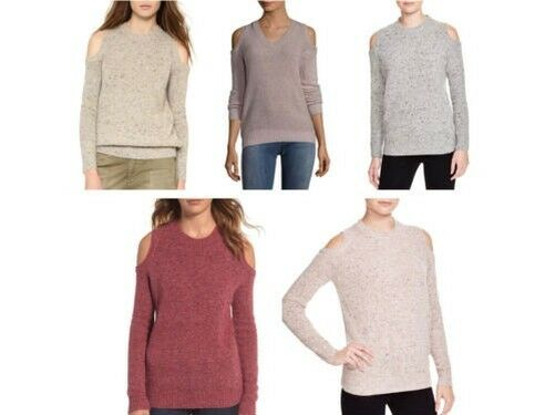 REBECCA MINKOFF Women's Cold-Shoulder Page Sweater NWT