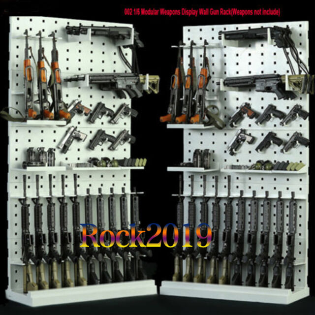 """1//6 Scale Modular Weapons Display Stand Wall Guns Rack Set F 12/"""" Soldier Figure"""