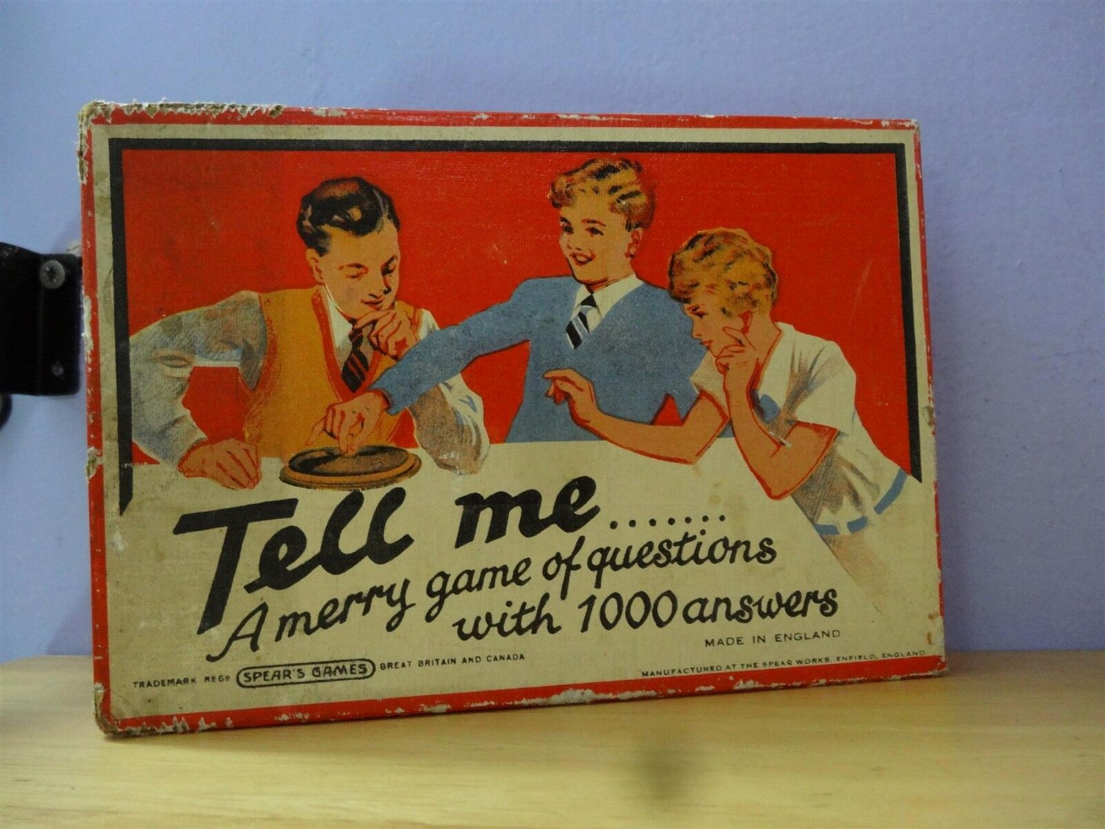 VINTAGE TELL ME, A MERRY GAME OF QUESTIONS IN FRENCH  PENSEZ VITE DENK FIKS