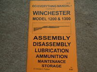 Winchester Model 1200 & 1300 Shotgun Manual 34 Pg.