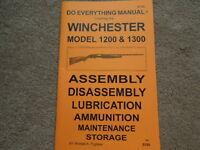 Winchester Model 1200 & 1300 Shotgun Manual 34 Pg.