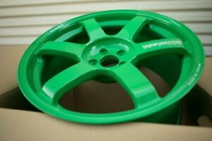 Volk TE37 Saga 18x9.5 +43 5x100, Takata Green BRAND NEW Forged for FRS/BRZ/GT86
