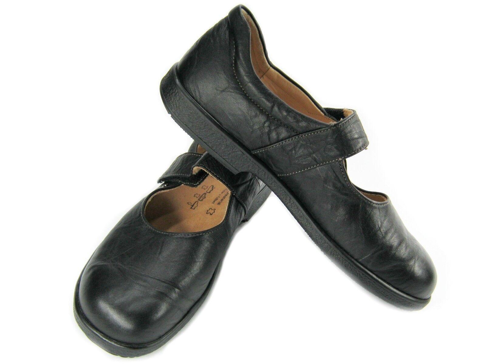 FINN COMFORT Womens Strap shoes Flats Clogs Black Size 9 40 Slip On  Mary Jane