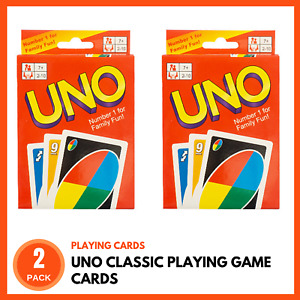2 PACK UNO PLAYING CARDS | Kids Card Games Family Card Games Classic Card Games