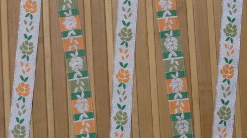 "5.58 Cm wide By The Yard Jacquard Trim Woven Braid Sew Ribbon T907 2.20/"""